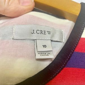J. Crew Dresses - J Crew Multistripe red white blue dress 6